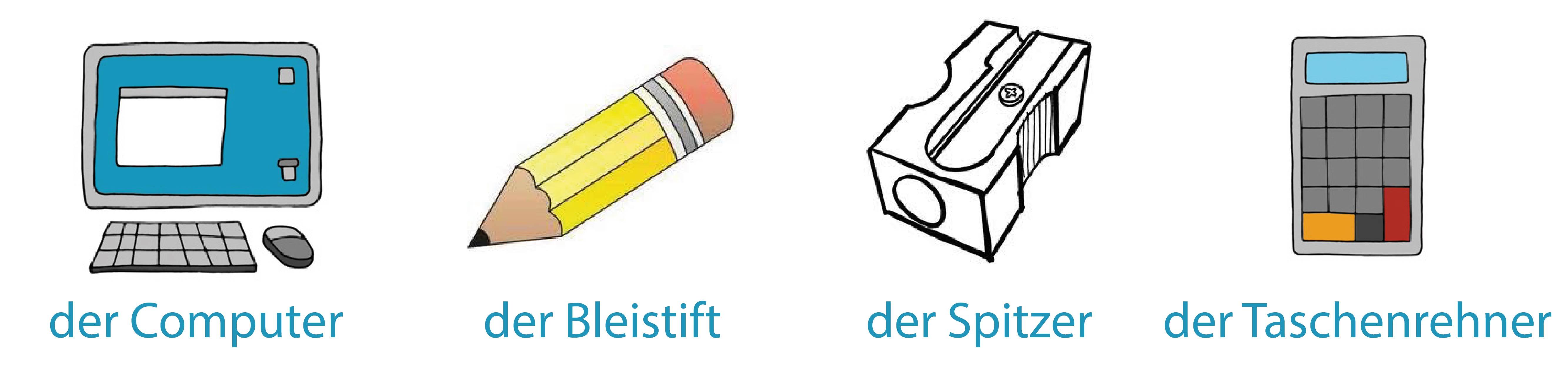 Almanca Okul Eşyaları ve Artikelleri